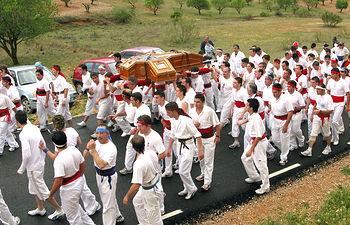 """Imagen de archivo de la """"Romería del Santísimo Cristo del Saúco"""", en Peñas de San Pedro (Albacete)."""
