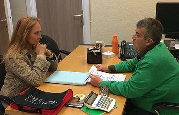 María Jesús Amores se reúne con el director de la ONCE en Cuenca, Javier Martínez