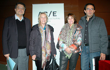 Sergio Ramírez, Soledad Puértolas, Rosa Montero y Juan Gabriel Vásquez, en el Campus de Ciudad Real