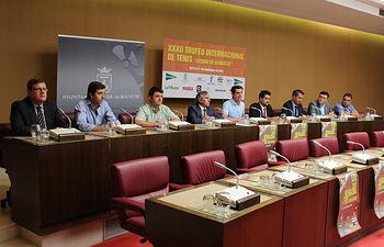 Javier Cuenca pone en valor la presencia de tenistas de primer nivel en el XXXII Trofeo Internacional de Tenis 'Ciudad de Albacete'.