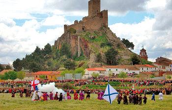 Recreación histórica de la Batalla de Almansa que la localidad organiza todos los años a los pies del castillo.