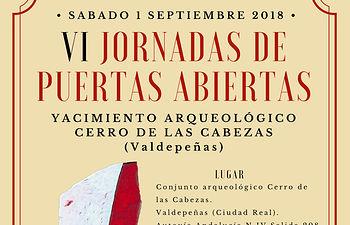 Cartel Puertas Abiertas 2018- Cerro de las Cabezas de Valdepeñas.