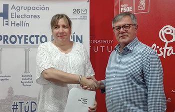 Acuerdo Gobierno Agrupación Electores Hellín-PSOE.