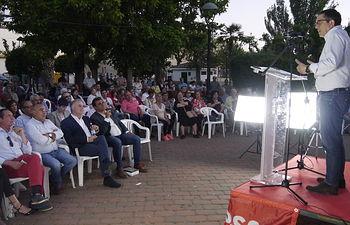 Patxi López arropa la candidatura de Ricardo Calzado en Malagón.
