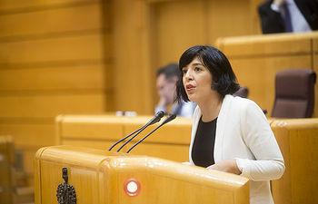 La senadora Idoia Villanueva ha registrado una iniciativa ante la Comisión de Asuntos Exteriores de la Cámara Alta. FOTO: Irene Lingua