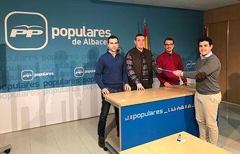 Juan Carlos González presenta su candidatura a presidir NNGG de Albacete con 163 avales