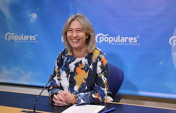 Ana Guarinos, en rueda de prensa