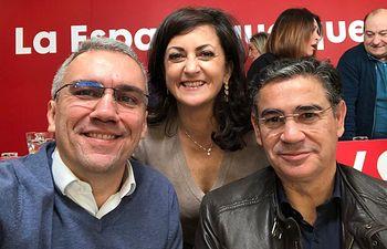 El secretario Federal de Agricultura, Manuel González Ramos, junto a la presidenta de La Rioja, Concha Andreu, y el delegado del Gobierno en Castilla y León, Javier Izquierdo.