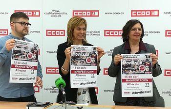 CCOO representantes Ganemos IU.