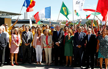 La ministra de Fomento en la inauguración (foto de EFE)