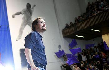 Pablo Iglesias en el acto de Eibar celebrado este domingo.