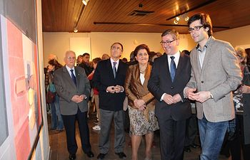 Marín en la exposición Quijada. El Legado. Foto: JCCM.