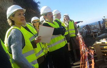 García Tejerina visita EDAR Nerja. Foto: Ministerio de Agricultura, Alimentación y Medio Ambiente