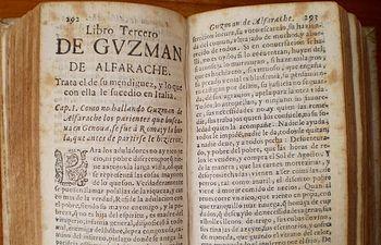 Imagen de una edición del libro de El Guzmán de Alfarache.
