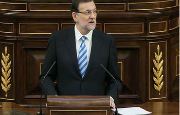 Mariano Rajoy defendiendo la postura del GPP en Debate en Pleno del proyecto de Ley Orgánica de abdicación de S.M. el Rey don Juan Carlos I. Fuente: Congreso