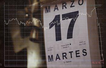 El Ibex 35 rebota al inicio de la sesión del segundo día laborable del estado de alarma tras un lunes negro, en Madrid (España) a 17 de marzo de 2020.....CORONAVIRUS;COVID-19;BOLSA DE MADRID....17/3/2020. Foto: Europa Press 2020