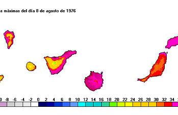 Ola de calor 1976, Canarias. Foto: Ministerio de Agricultura, Alimentación y Medio Ambiente