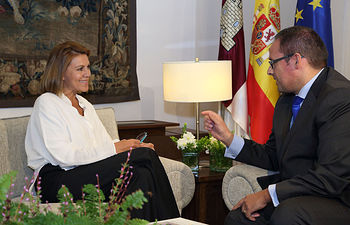 Cospedal se reúne con José Ruiz. Foto: JCCM.