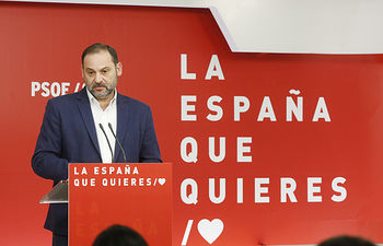 José Luis Ábalos, secretario de Organización y ministro de Fomento.