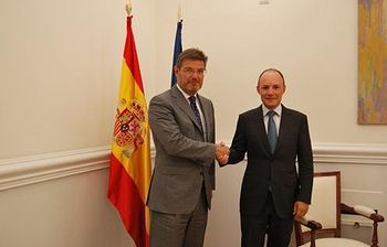 Rafael Catalá y Xavier Espt. Foto: Ministerio de Justicia.