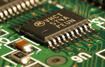 Circuito integrado. Imagen de archivo.