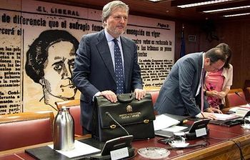 El ministro de Educación, Cultura y Deporte, Íñigo Méndez de Vigo en la Comisión de Cultura del Senado. Foto: Ministerio de Educación, Cultura y Deporte.