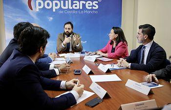 Reunión de Paco Núñez con los responsables de Hacienda del PP.