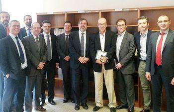 Reunión Federico Ramos y empresas Dubai. Foto: Ministerio de Agricultura, Alimentación y Medio Ambiente