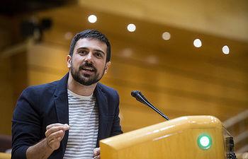 Ramón Espinar, portavoz de Unidos Podemos en el Senado y secretario general de Podemos Comunidad de Madrid. FOTO: Irene Lingua
