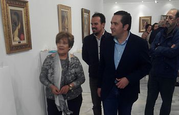 Exposición cuadros punto de cruz.