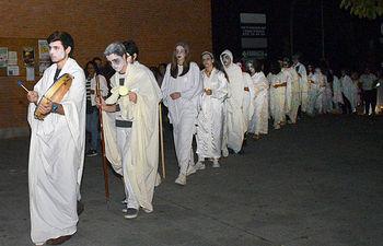 Imagen del año pasado de 'Noche de ánimas'. Fotografía: Álvaro Díaz Villamil / Ayuntamiento de Azuqueca