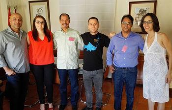 Delegación Saharaui junto a representantes de Podemos CLM