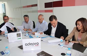 Reunión Manuel Serrano con ADEPRO.
