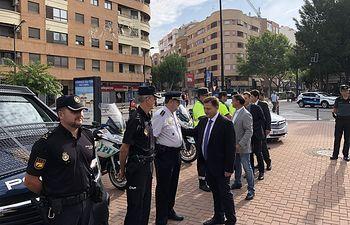 Visita al Punto de Seguridad en la Feria de Albacete 2018.