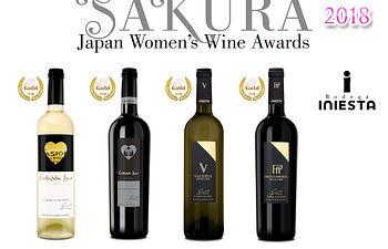 Vinos de Bodega Andrés Iniesta en el concurso SAKURA Japan Women´s Wine Awards 2018