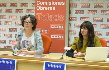 Mª Ángeles Castellanos y Rosario Martínez.
