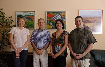 De izqda a dcha, Ángela González, Pedro Carrión, Patricia Maldonado y Pedro Alberti