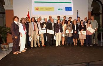 Rosa Aguilar en los premios Biodiversidad. Foto: Ministerio de Medio Ambiente, y Medio Rural y Marino