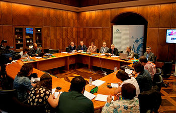 Un momento del encuentro que ha tenido lugar en Oviedo.