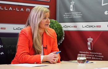 María Eugenia Cuartero Garrido, alcaldesa de Casas de Lázaro (Albacete). Foto: Manuel Lozano Garcia / La Cerca