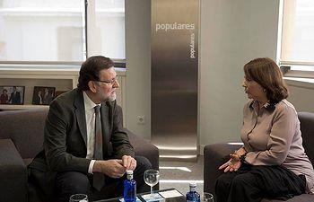 Mariano Rajoy se reúne con Mitzy Capriles, mujer del alcalde de Caracas encarcelado en Venezuela