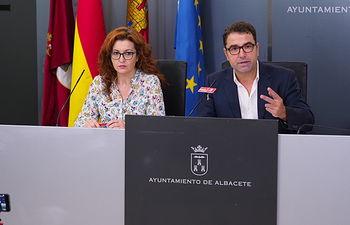 Rueda de prensa del Grupo Municipal Socialista en el Ayuntamiento de Albacete