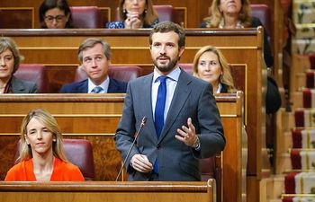 Presidente del PP, Pablo Casado.
