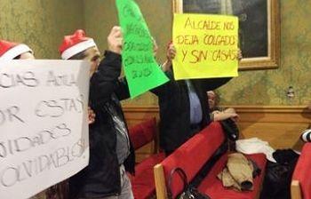 Los trabajadores de las Casas Colgadas, en el Pleno del Ayto de Cuenca del pasado 27 de diciembre