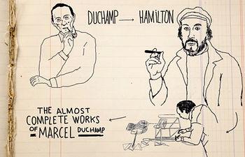 "Imagen capturada del vídeo ""Richard Hamilton"", realizado por Javi Álvarez"