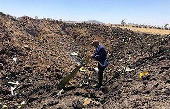 Accidente avión Etiopía - 10-03-19 - Foto: ETHIOPIAN AIRLINES