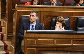 Pedro Sánchez en el Congreso de los Diputados 13-02-2019.