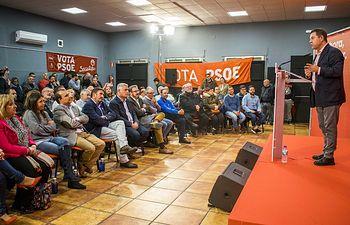 Torrejón del Rey (Guadalajara), 4 de noviembre de 2019.-Acto de campaña del secretario general del PSOE de Castilla-La Mancha y presidente regional, Emiliano García-Page.(Fotos:PSOE).