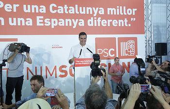 Pedro Sánchez en Tarragona