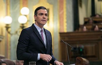 Pedro Sánchez durante la sesión de investidura. Foto: EVA ERCOLANESE